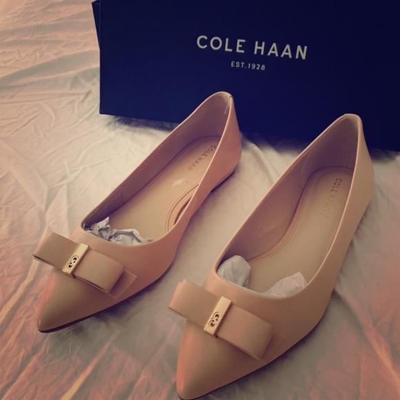 Cole Haan Shoes - Cole Haan ballerina flats Nude